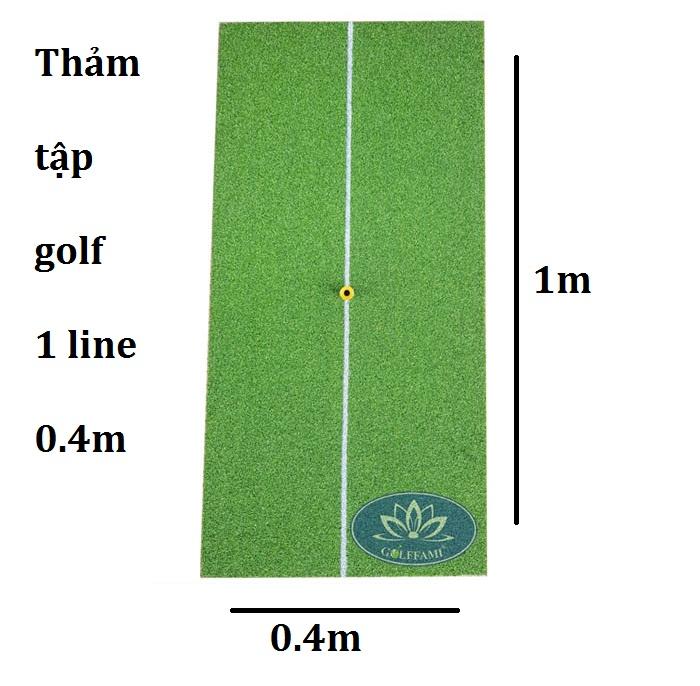 Thảm tập golf 1 line 0.4m