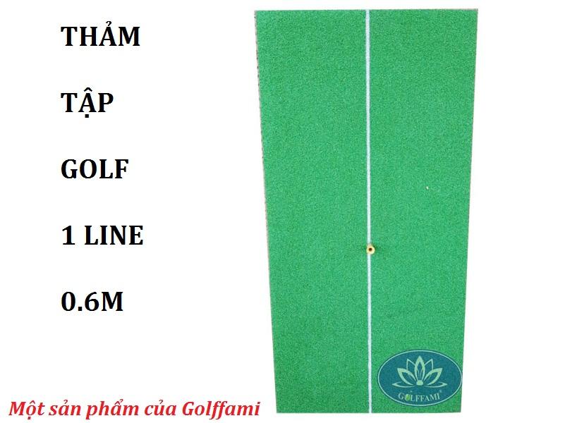 Thảm tập golf 1 line 0.6m