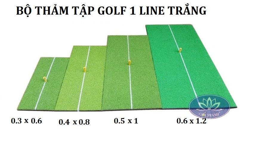 Bộ thảm tập golf 1 line với các kích thước