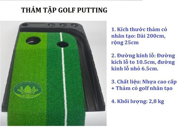 Thảm tập Golf Putitng nhựa Gomi22