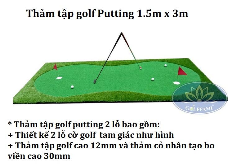 Thảm tập putting golf 1.5m x 3m