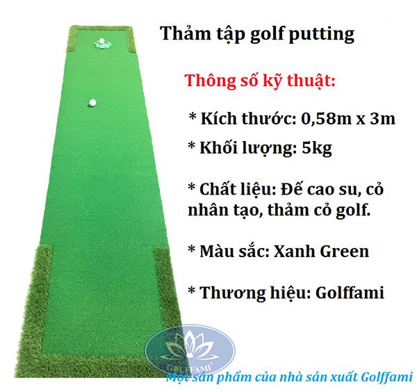 thảm tập golf Putting Gomi25