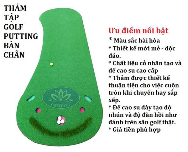 Thảm tập golf putting hình bàn chân Gomi21