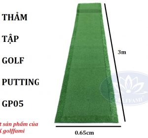 Thảm tập golf putting 0,65m x3m GP05