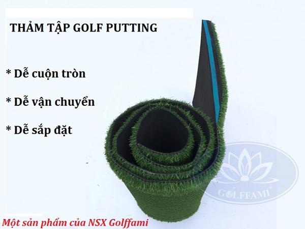 Thảm tập putting Golf 0,65m x3m Gomi24