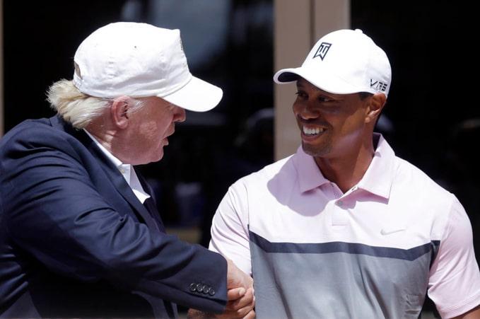 Tiger woods được tổng thống Donald Trump trao tặng huân chương